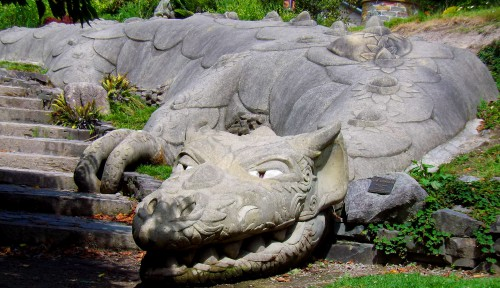 Stone Dragon at Te Puna Quarry Park